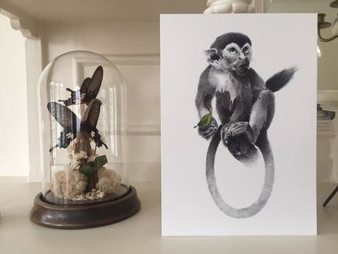 A piece created exclusively for Art Car Boot Fair 2016, London. 'Weenix's Plum (Monkey as King)