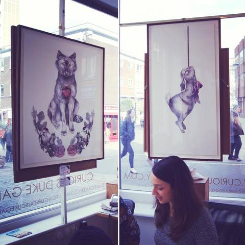 In situ 'She-Wolf (Lupa)' & 'Diehard Romantic' 2016